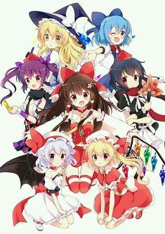 Kirisame Marisa - Cirno - Himetaidou Hatate - Reimu Hakurei - Flandre Scarlet - Remilia Scarlet