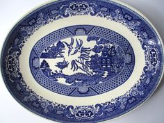 Vintage Blue Willow Style Serving Platter  Classic by thechinagirl use code Monday for a 30% discount today! #sale
