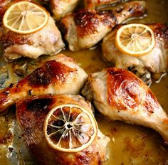 ngredients: 4 chicken thighs or breasts with skin 2 cloves of finely chopped garlic juice and zest of a lemon 1 tablespoon honey 1 tablespo...