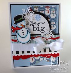 Holiday card by Susan Liles using Verve Stamps.  #vervestamps