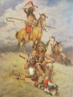 Charles Winfield Miller Western Lithograph Signed Artist Proof Numb Orig Frame