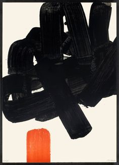 scandinaviancollectors: Lithographie No. 24b (R. 123) by Pierre Soulages, 1969. - I Love Ugly