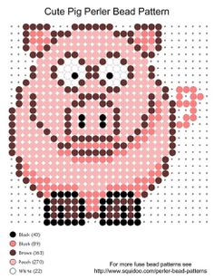 #Cute pig perler bead pattern