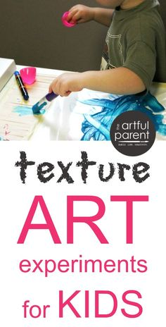 Texture Art Projects for Kids :: Exploring Different Surfaces