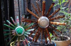 Soda Can Pinwhell Flowers  by Colleen Vanderlinden