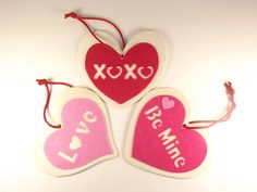 Buy 2 get 1 FREE Valentine Heart Ornament by RussianCuties on Etsy, $3.50