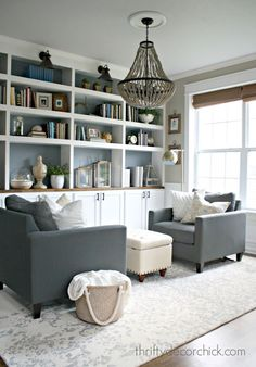Trendy Home Library Diy Built In Bookcase Small Sitting Rooms, Sitting Room Decor, Kitchen Sitting Areas, Boho Dining Room, Small Dining, Home And Deco, Formal Living Rooms, Furniture Arrangement, Home Office Design