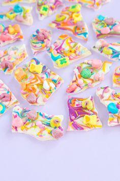 Rainbow Lucky Charms Chocolate Bark