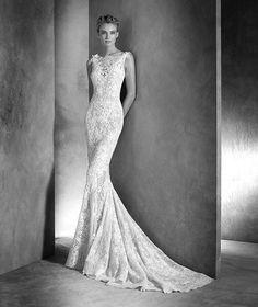 Ilari, abito da sposa con scollatura a barca, dallo stile elegante
