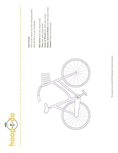 flower basket bicycle hand embroidery pattern by hooptdo on Etsy
