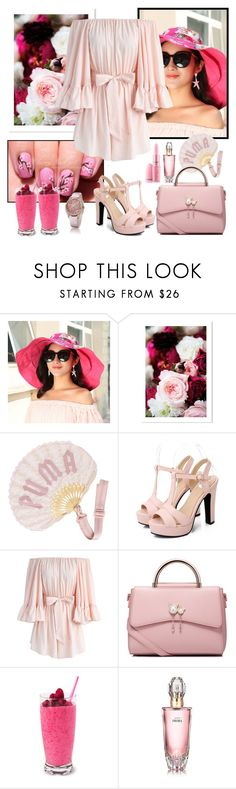 """""""Untitled #1273"""" by misaflowers ❤ liked on Polyvore featuring Puma, Chicwish, WithChic and Avon"""