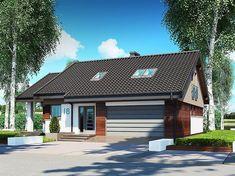 Projekt domu Nel II 2G 122,08 m2 - koszt budowy 220 tys. zł - EXTRADOM Modern Bungalow House, Gazebo, Outdoor Structures, Construction, Architecture, Outdoor Decor, Home Decor, House 2, Little Cottages