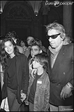 Bambou, Charlotte Gainsbourg et Serge Gainsbourg en 1982