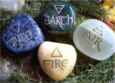 Los cuatro elementos Wicca
