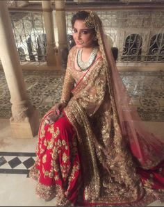 Anushka Sharma In A Bridal Lehenga In Ae Dil Hai Mushkil.For This Dress Drop A Mail At contact@ladyselection.com