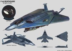 Student created military aircraft designs