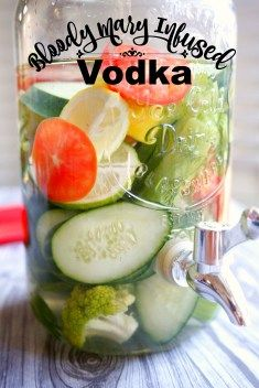 If you are looking for some fun cocktail recipes, you have to try this bloody Mary infused vodka! Bloody Marys are a must if you are serving signature vodka drinks at your party and this is such an easy way to make them. Summer Drink Recipes, Best Cocktail Recipes, Vodka Drinks, Summer Cocktails, Beverages, Cocktail Drinks, Alcoholic Drinks, Brunch Drinks, White Russian