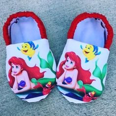 Kiddo Kicks in Disney The Little Mermaid Ariel - Moon and Back Wishes
