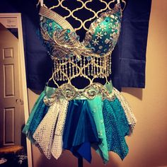 Elsa Rave Bra Disney original version by MissJAYNEdesigns on Etsy