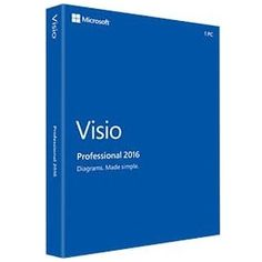 Microsoft Visio 2016 Professional - Box Pack - 1 PC