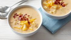 Slow-Cooker Cheesy Bacon-Ranch Potato Soup - Is it possible to fit all your favorite things into one slow cooker? We think we've come pretty close with this creamy, rich, slow-cooker potato soup. Crock Pot Recipes, Best Soup Recipes, Crock Pot Soup, Crock Pot Cooking, Slow Cooker Recipes, Cooking Recipes, Favorite Recipes, Crockpot Meals, Chili Recipes