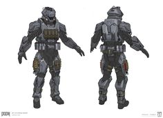 ArtStation - DOOM - MP Utilitarian Armor Sets, Emerson Tung