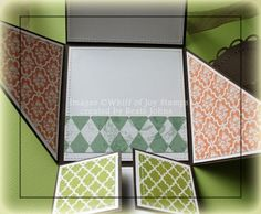 six fold card video tutorial by Beate Johns/Splitcoast Stampers tutorial.
