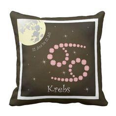 Krebs 22. Juni bis 22. Juli Kissen March 20th, February 19, Juni, June 22, Young Women, Astrology Signs, Fish, Pillows, Virgo