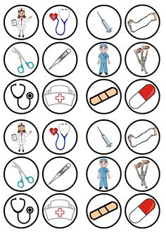 24 Nurses Doctors Theme Precut Edible Cupcake Toppers - wafer card disc cake decorations Stand Up Community Helpers Preschool, Nurse Art, Edible Cupcake Toppers, Paper Cupcake, Wafer Paper, Nurses Day, Bottle Cap Images, Dramatic Play, Diy Birthday