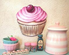 Cupcake Decor Curtains | Cupcake Kitchen Decor With Simple And Yummy Design