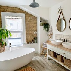 light and airy bathroom