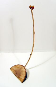 Acorn Pair, mixed-media with natural materials, 2009