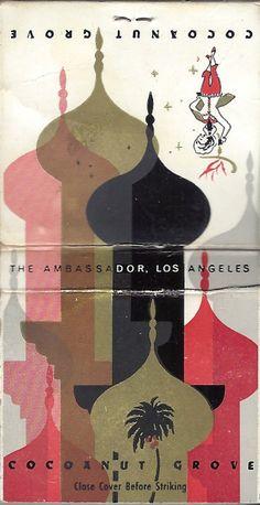 Coconut Grove - Ambassador Hotel, Los Angeles - Circa 1970's