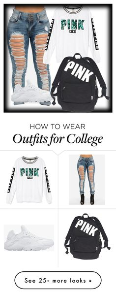 """""""juss cuz"""" by lovermonster on Polyvore featuring Victoria's Secret and NIKE"""
