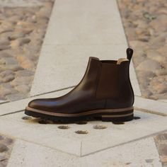 Chene's handmade men's boots offers you the most sought-after styles for men's ankle boots that you can use in formal attire and casual wear alike. See our handcrafted boots collection here. Slip On Boots, Shoe Boots, Men's Shoes, Comfortable Mens Dress Shoes, Brown Chukka Boots, Mens Ankle Boots, Custom Design Shoes, Mens Boots Fashion, Penny Loafer