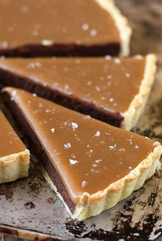 Salted Caramel Bittersweet Chocolate Tart | It's so incredibly smooth and rich – and of course, topped with homemade salted caramel!