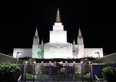 Oakland Temple at Night - http://www.everythingmormon.com/oakland-temple-at-night/  #mormonproducts #LDS #mormonlife
