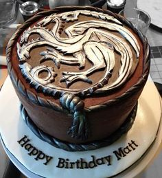 Amazing Game of Thrones chocolate peanut butter cup cake!