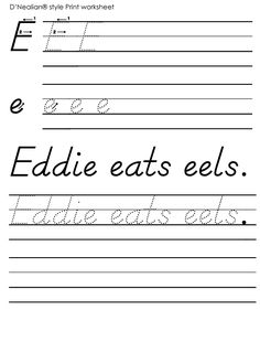 65 Best D'Nealian handwriting images | Handwriting ...