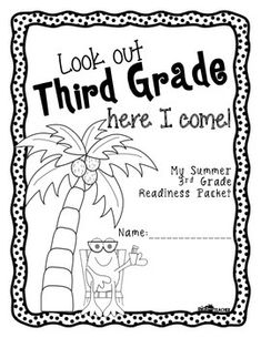 Summer Homework Packet for Rising Third Graders (who have