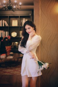 Korean Fashion Dress, Korean Outfits, Asian Fashion, Fashion Beauty, Girl Fashion, Fashion Dresses, Womens Fashion, New Fashion Trends, Daily Fashion