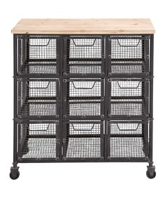Roller Wood Basket Storage For Potatoes Kitchen