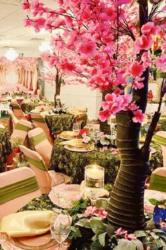Feast your eyes on this impressive woodland baby shower! The table settings are fabulous! See more party ideas and share yours at CatchMyParty.com
