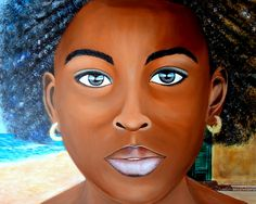 MIRADA DE SENEGAL Acrylic paint on canvas 100 cm x 86 cm