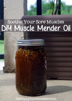 Soothe Your Sore Muscles - DIY Muscle Mender Oil & Salve - The Hippy Homemaker Herbal Remedies, Health Remedies, Natural Remedies, Healing Herbs, Natural Healing, Natural Medicine, Herbal Medicine, Medicine Garden, Sore Muscles Quotes