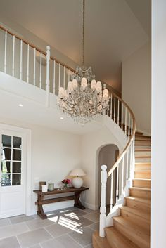 B+ Villas Renovation Interiors - Nieuwbouw landelijke villa - Hoog ■ Exclusiev. New Staircase, Staircase Remodel, Staircase Design, Interior Stairs, Home Interior Design, Metal Building Homes, Building A House, House Architecture Styles, Pole Barn House Plans