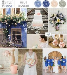 Wedding Inspiration - Colour Palette - Blue, Peach & White