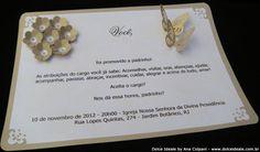Convite com colagem de Flores e Borboletas