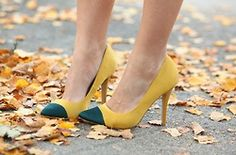 fall yellow shoes | Found on refinedstyle.tumblr.com