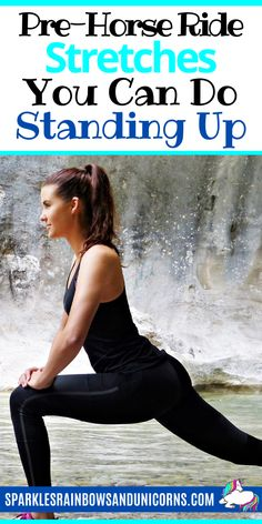 If you are tight throughout your body while horseback riding it can really hinder your performance. Stretching before you ride your horse can greatly benefit yo Horse Riding Quotes, Horse Riding Tips, Horseback Riding Tips, Horse Exercises, Horse Care Tips, Riding Lessons, Workout Warm Up, Horse Training, Stretches